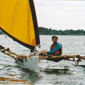 KOLEA 16 ft. tacking proa 7,7 m² sailing outrigger canoe