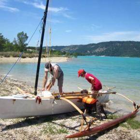 KOLEA als Paddel- und Segelversion für kleines Segel am Lac de Saint Croix