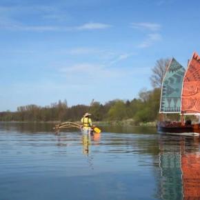 Exotische Begegnung auf dem Rhein