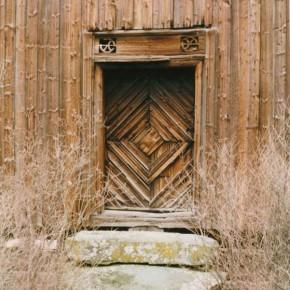 Alte norwegische Haustür