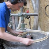 sanding the coaming