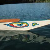 the Buddha eye on the bow